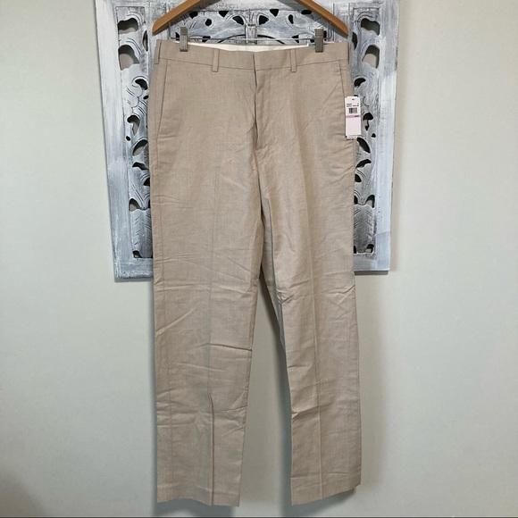 Cubavera natural linen tan dress pants 32/32